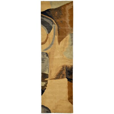 Terrill Hand-Tufted Blue/Brown Area Rug Rug Size: Runner 23 x 8