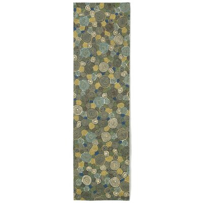 Derek Swirls Indoor/Outdoor Rug Rug Size: Runner 23 x 8