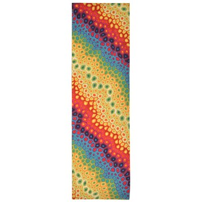 Visions IV Pop Swirl Area Rug Rug Size: Runner 13 x 8