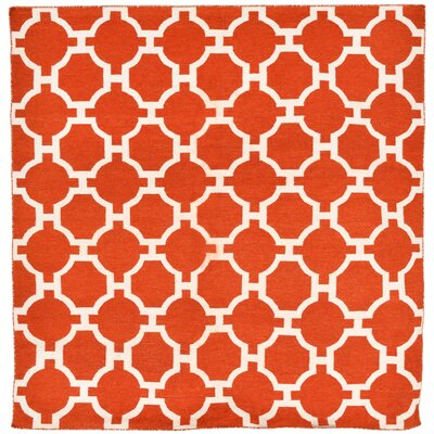 Assisi Tile Hand Woven Red Indoor/Outdoor Area Rug Rug Size: Square 8