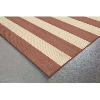 Kensa Terracotta/Beige Indoor/Outdoor Area Rug Rug Size: 710 x 910