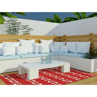 Orinda Hand-Tufted Red Indoor/Outdoor Area Rug Rug Size: 76 x 96