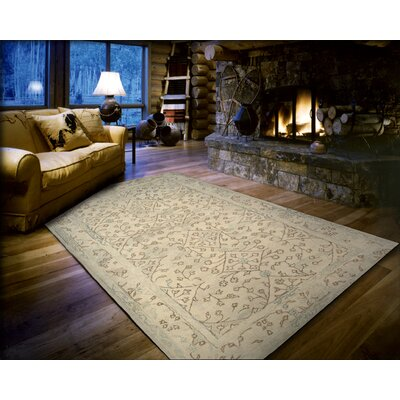 Adella Hand-Tufted Natural Area Rug Rug Size: 5 x 8