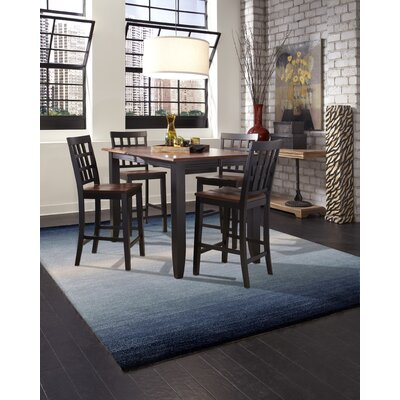 Belding Hand-Tufted Wool Blue Area Rug Rug Size: Rectangle 5 x 8