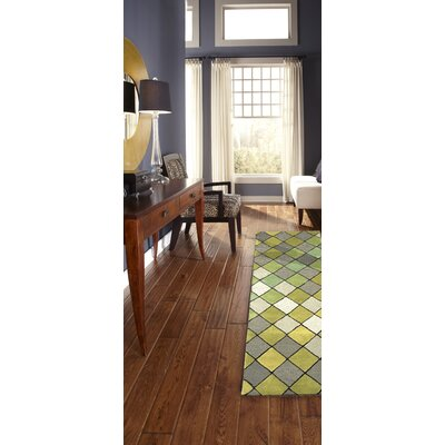 Shelburne Hand-Tufted Sage Area Rug Rug Size: Rectangle 8 x 10