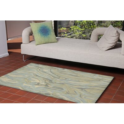 Terrill Hand-Tufted Blue Indoor/Outdoor Area Rug Rug Size: 36 x 56