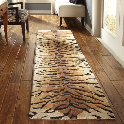 Bowdens Brown Tiger Area Rug Rug Size: 8 x 10