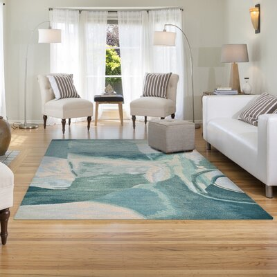 Terrill Hand-Tufted Blue Area Rug Rug Size: 5 x 8