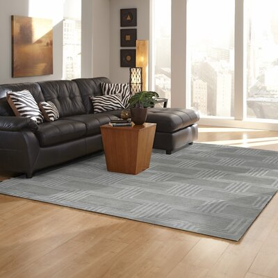 Brayden Studio Gaydos Hand-Tufted Gray Area Rug