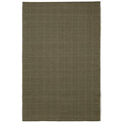 Chesapeake Charcoal Tweed Indoor / Outdoor Area Rug Rug Size: 76 x 96