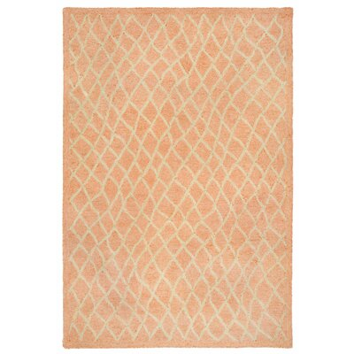 Chamness Hand-Tufted Orange Indoor/Outdoor Area Rug Rug Size: 83 x 116