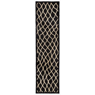 Bogard Hand-Tufted Charcoal Indoor/Outdoor Area Rug Rug Size: Runner 2 x 8