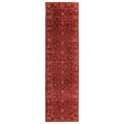 Adella Hand-Tufted Red Area Rug Rug Size: Runner 23 x 8