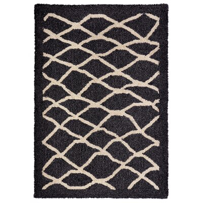 Bogard Hand-Tufted Charcoal Indoor/Outdoor Area Rug Rug Size: 2 x 3