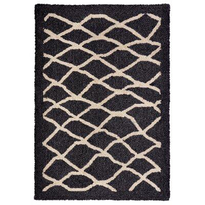Bogard Hand-Tufted Charcoal Indoor/Outdoor Area Rug Rug Size: 83 x 116