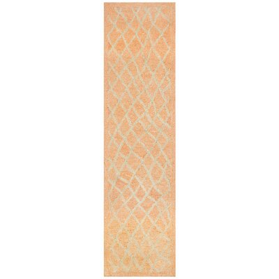 Chamness Hand-Tufted Orange Indoor/Outdoor Area Rug Rug Size: Runner 2 x 8
