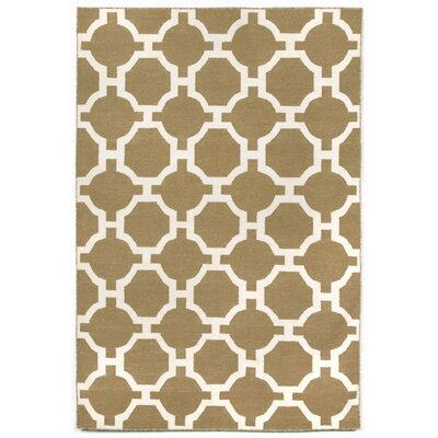 Assisi Hand Woven Khaki Indoor/Outdoor Area Rug Rug Size: Rectangle 36 x 56