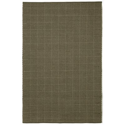Chesapeake Charcoal Tweed Indoor / Outdoor Area Rug Rug Size: 76 x 96