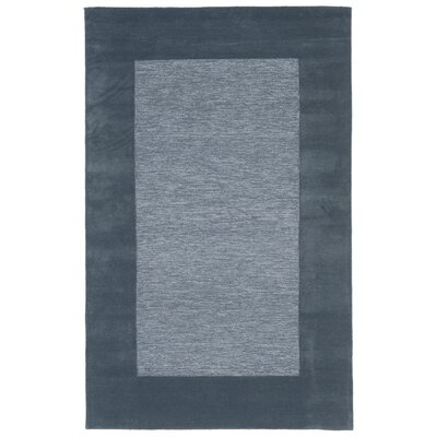 Dewsbury Blue Border Area Rug Rug Size: Rectangle 36 x 56