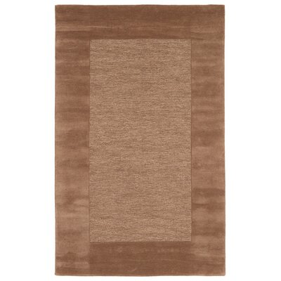 Dewsbury Brown Border Area Rug Rug Size: Rectangle 36 x 56
