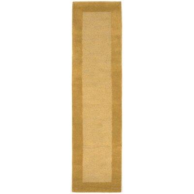 Dewsbury Gold Border Area Rug Rug Size: Runner 2 x 8