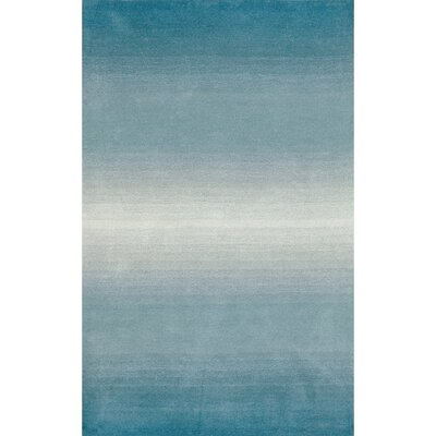 Belding Aqua Horizon Area Rug Rug Size: Rectangle 76 x 96