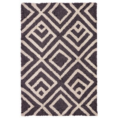 Chamness Hand-Tufted Charcoal/Beige Indoor/Outdoor Area Rug Rug Size: 2 x 3