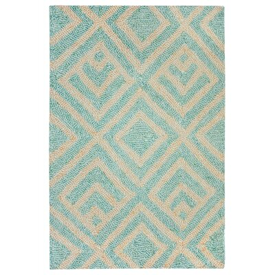 Chamness Hand-Tufted Aqua Indoor/Outdoor Area Rug Rug Size: 2 x 3