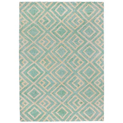 Chamness Hand-Tufted Aqua Indoor/Outdoor Area Rug Rug Size: 83 x 116