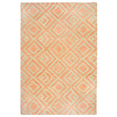 Chamness Hand-Tufted Orange Indoor/Outdoor Area Rug Rug Size: 5' x 7'6