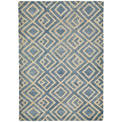 Wooster Hand-Tufted Denim Indoor/Outdoor Area Rug Rug Size: 36 x 56