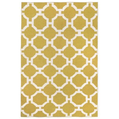 Assisi Tile Hand Woven Yellow Indoor/Outdoor Area Rug Rug Size: 83 x 116