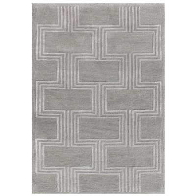 Roma Hand-Tufted Gray Area Rug Rug Size: 36 x 56