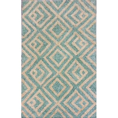 Chamness Hand-Tufted Aqua Indoor/Outdoor Area Rug Rug Size: 3'6