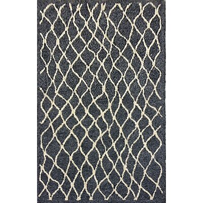 Bogard Hand-Tufted Charcoal Indoor/Outdoor Area Rug Rug Size: 5 x 76