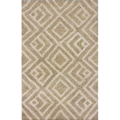 Chamness Hand-Tufted Neutral Indoor/Outdoor Area Rug Rug Size: 3'6
