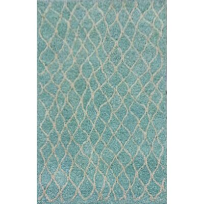 Bogard Hand-Tufted Aqua Indoor/Outdoor Area Rug Rug Size: 36 x 56