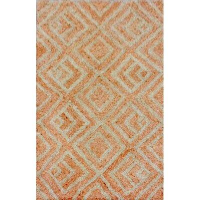 Chamness Hand-Tufted Orange Indoor/Outdoor Area Rug Rug Size: 36 x 56