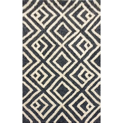 Chamness Hand-Tufted Charcoal/Beige Indoor/Outdoor Area Rug Rug Size: 36 x 56