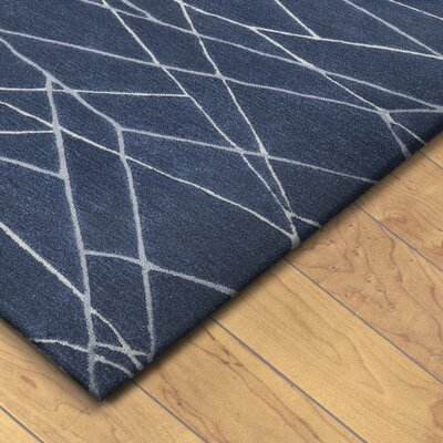 Tenorio Hand Tufted Wool Blue Area Rug Rug Size: Runner 23 x 8