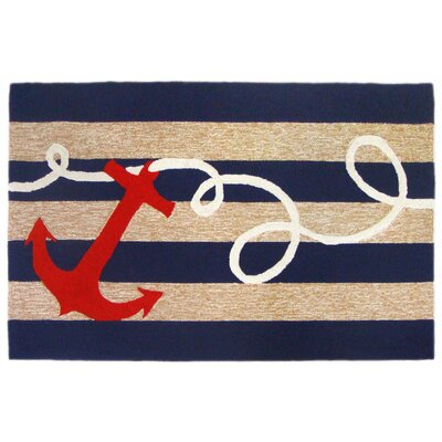 Walton Anchor Hand-Tufted Indoor/Outdoor Area Rug Rug Size: 76 x 96