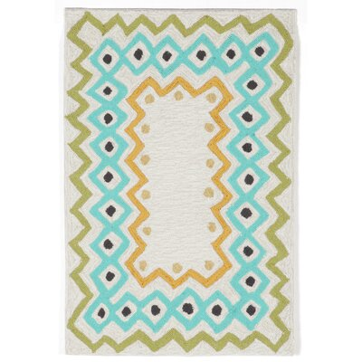Bahri Pastel Border Indoor/Outdoor Area Rug Rug Size: Rectangle 2 x 3