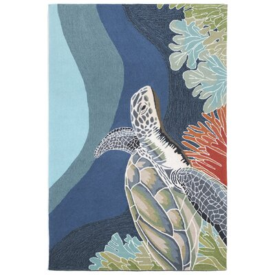 Clowers Akumal Blue Indoor/Outdoor Area Rug Rug Size: Rectangle 5 x 76