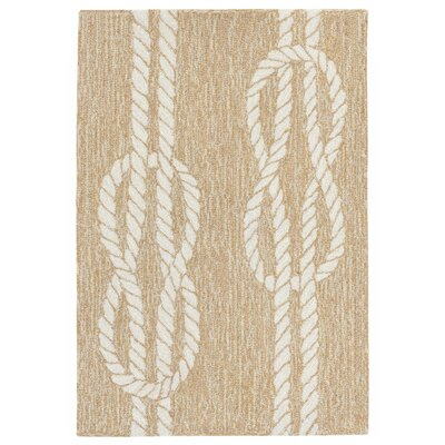 George Hand-Tufted Neutral Indoor/Outdoor Area Rug Rug Size: Rectangle 2 x 3