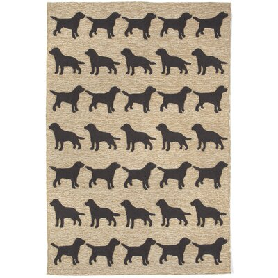 Allgood Doggies Natural Indoor/Outdoor Area Rug Rug Size: Rectangle 2 x 5