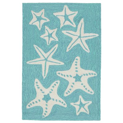 Claycomb Hand-Tufted Aqua Indoor/Outdoor Area Rug Rug Size: Rectangle 2 x 3