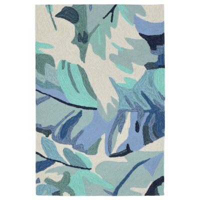 Rachael Hand-Tufted Blue Indoor/Outdoor Area Rug Rug Size: Rectangle 2 x 3