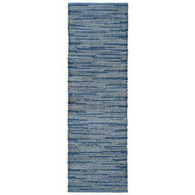 Sardis Hand-Woven Blue Indoor/Outdoor Area Rug Rug Size: 36 x 56