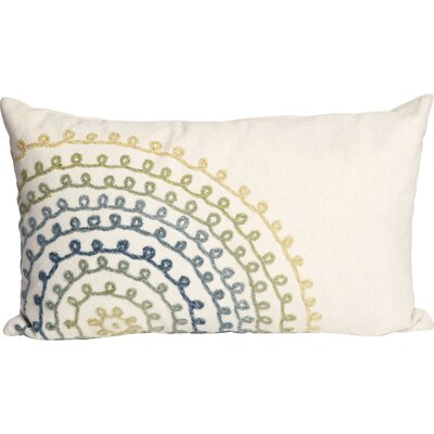 Ira Ombre Threads Outdoor Lumbar Pillow Color: White/Blue