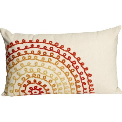 Ira Ombre Threads Outdoor Lumbar Pillow Color: White/Red